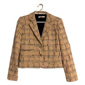 Tory Burch Tan Tweed Blazer - Women's Size 2